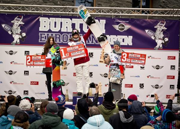 BEO 2014 Womens Halfpipe final podium