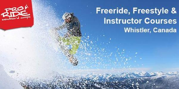 Save $750 off Pro Ride Camps in Whistler!