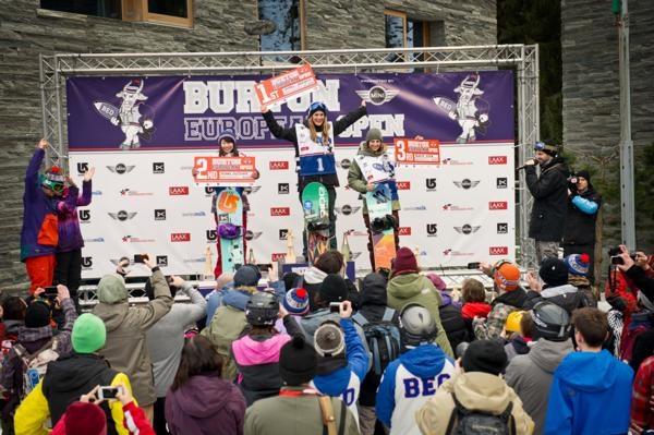 BEO 2014 Womens slopestyle podium