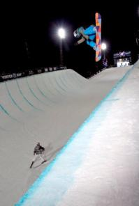 Kelly Clark sticks a 1080 in X-Games Halfpipe