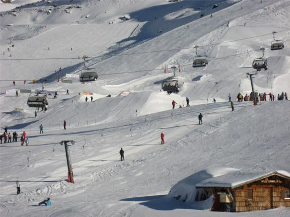 Main terrain park from the bottom