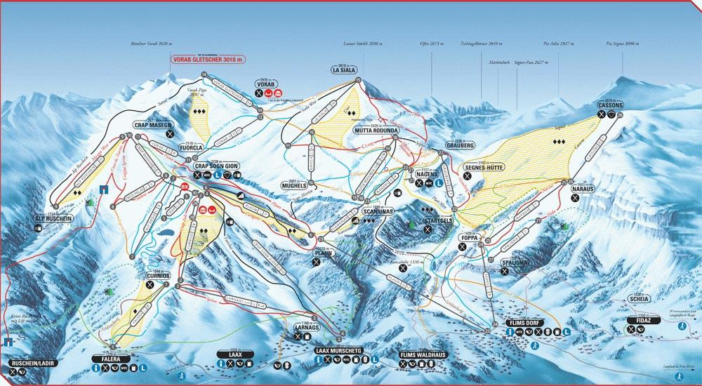 Laax riding guide - World Snowboard Guide