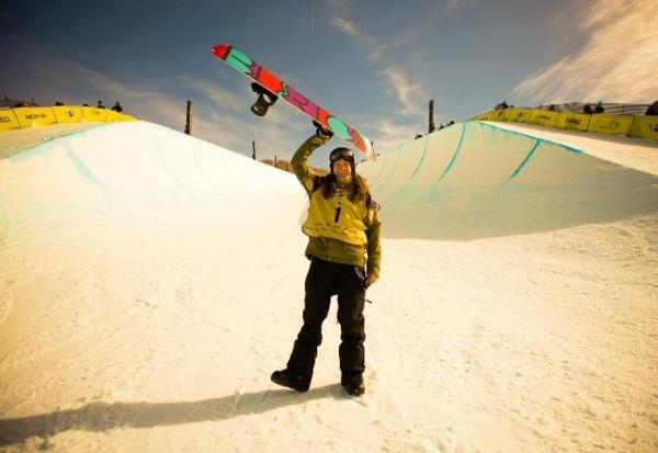 Kelly Clark US Open Halfpipe Winner