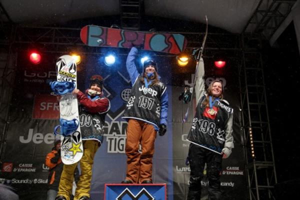 X-Games TIgnes Womens's Podium 2013