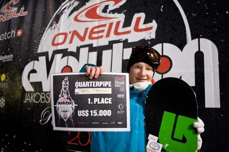 Peetu Piiroinen Evolution 09 Quarterpipe winner