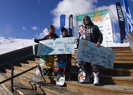 Men's Half Pipe Podium