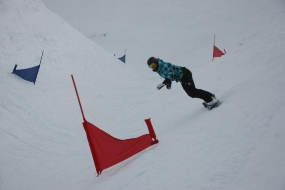 2010 Banked Slalom at TC female winner Juliane Bray