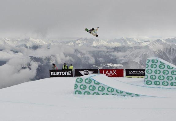 Christian Haller in the mens slopestyle semi at BEO11