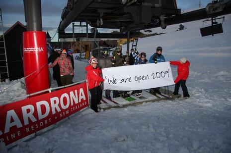 Cardrona 2009 opening day