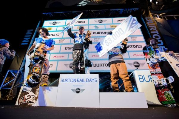 Burton Rail Days Podium