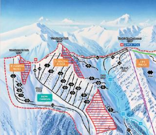 Kicking Horse Redemption Ridge Piste Map