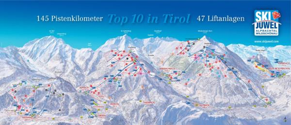 SKi Jewel Piste Map