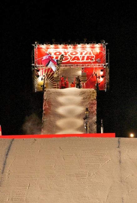 Chas back 12 in the finals, Toyota Big Air 2011 in Sapporo