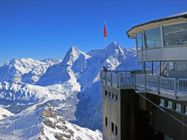 Mürren from the top of the Schiltorn towards Jungfrau