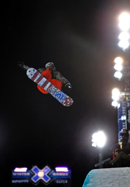 Scotty Lago competing in Men's Snowboard SuperPipe Finals at Winter X Games 15