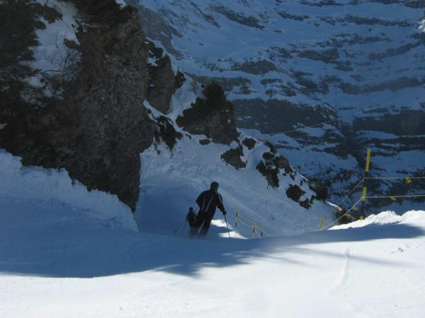 The Lauberhorn Steep Section