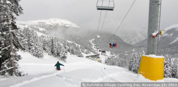 Sunshine Village Opening Day Nov 19 2010