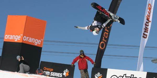 Halfpipe action at the Brits