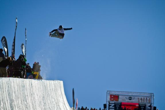 Burton NZ 2011 open halfpipe winner Kelly Clark
