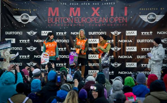 Burton Open 2012 Women's Podium