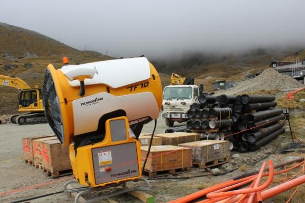 New Technoalpin Snow Gun waiting for installation at The Remarkables