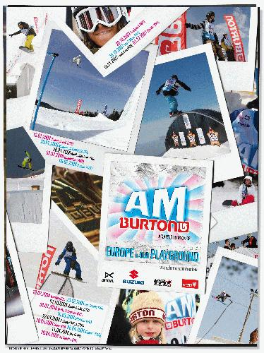 Burton AM Tour 2008 flyer