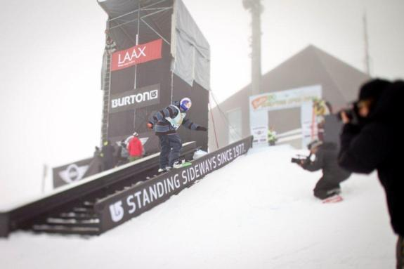 Seppe Smits in the mens slopestyle semi at BEO11