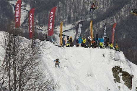 Freeride World Tour 09 in Sochi. Rider: Raphael Bullet