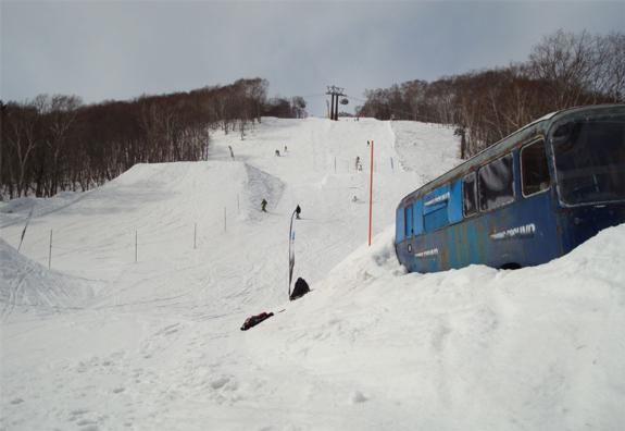Terrain Park on Hirafu looking up