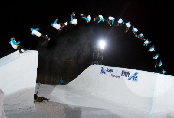Winner Torstein Horgmo in Snowboard Big Air Final at Winter X Games 15