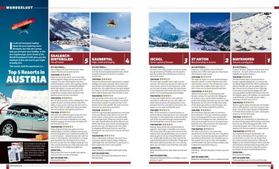 The WSG Top-5 Resorts in Austria article in Whitelines