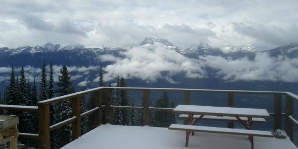 First snowfall of the season at Revelstoke