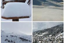 Snow arrives on cue in France!