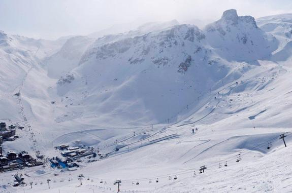 Tignes, France : Slopestyle course at Winter X Games 2010 Europe