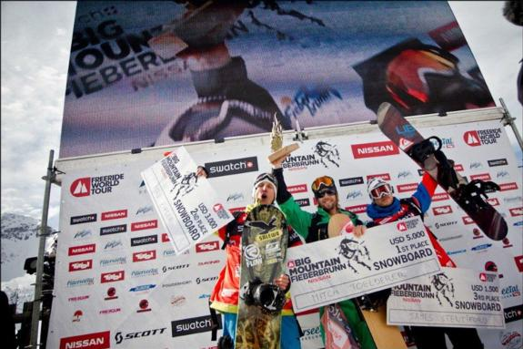 WINNERS PODIUM IN SWATCH BIG MOUNTAIN FIEBERBRUNN 2011
