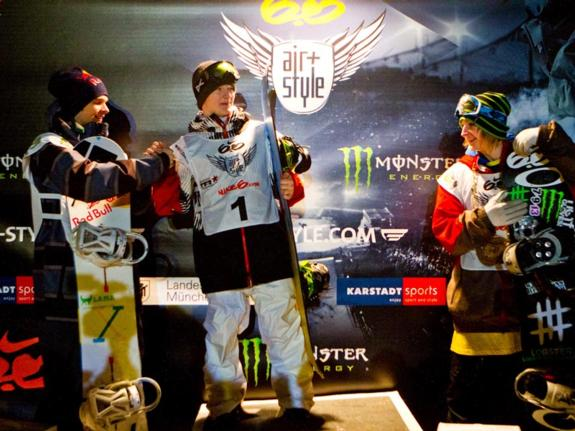 2011 Munich Air & Style winners podium