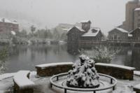 First snowfall at Copper Mountain