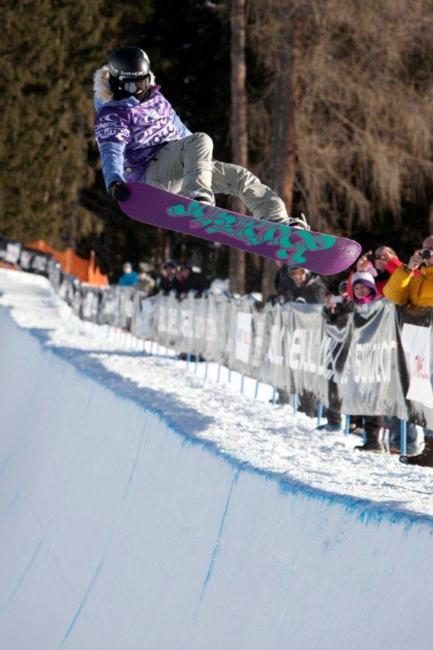 Womens halfpipe qualification, rider: Linn Haugoe