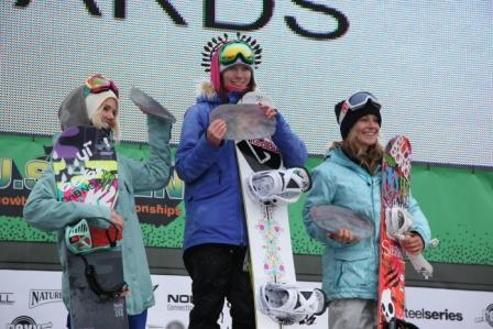 2011 US Open slopestyle womens podium