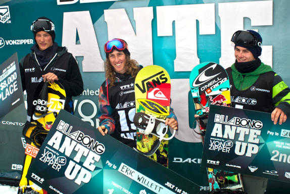 2011Billabong Ante Up winners podium
