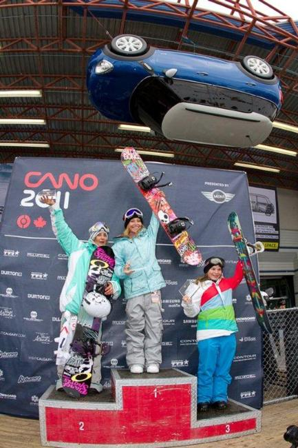 Canadian Open womens Slopestyle 2011 winners podium