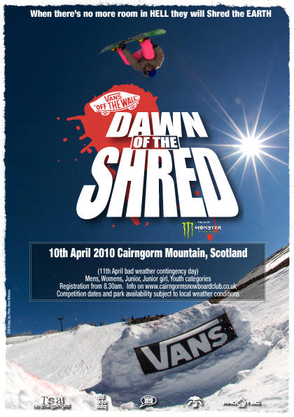 Dawn of the Shred 2010 flyer