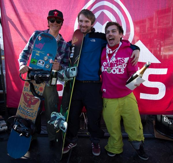 The Brits Snowboard Cross Mens Podium 2014