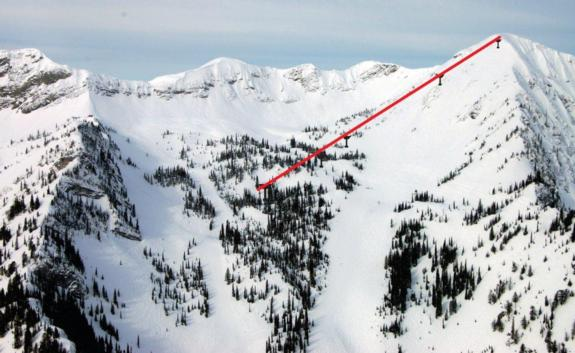 Location of the new Polar Peak lift for 2011/12