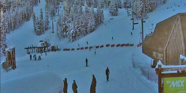 Lake Tahoe finally gets some snow!
