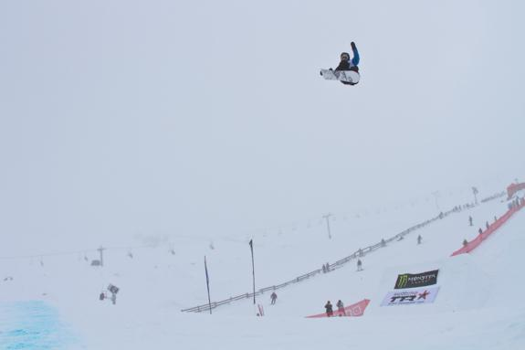 NZ Open 2010 Slopestyle finals, winner Christian Haller