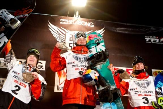 Air and Style 2011 winners podium