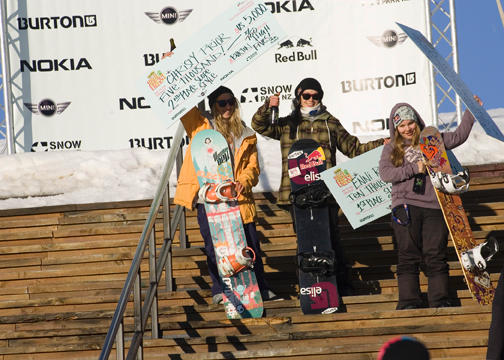 High Fives Women's Podium!