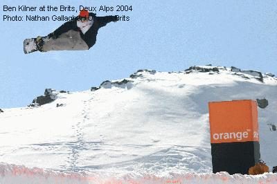 Ben Kilner at the Brits, Deux Alps 2004