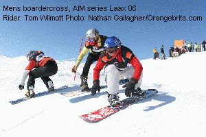 Mens boardercross, AIM series Laax 06